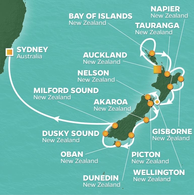 australia and new zealand golf cruise golfahoy