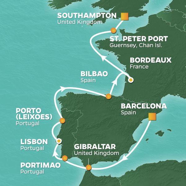 2020 Mediterranean Spain Portugal France Golf Cruise