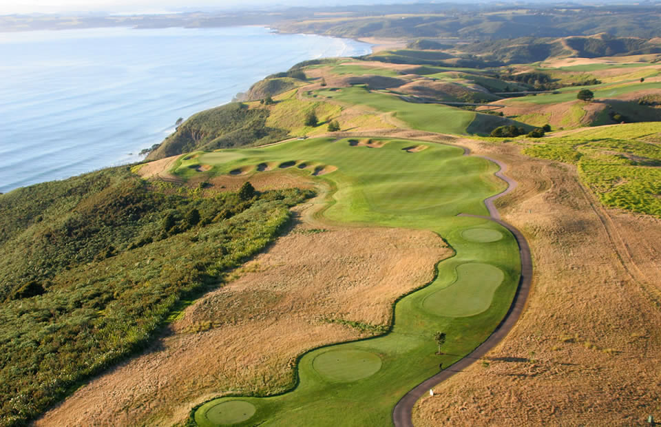 new zealand golf cruise kauri cliffs golf course