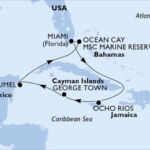 caribbean golf cruise map
