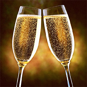 golf ahoy champagne glasses anniversary celebration