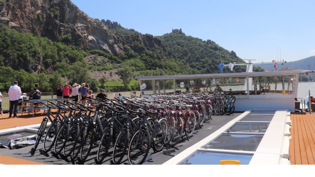 Golf Ahoy Danube River Golf Cruise AmaMagna 50 bicycles for guests on deck