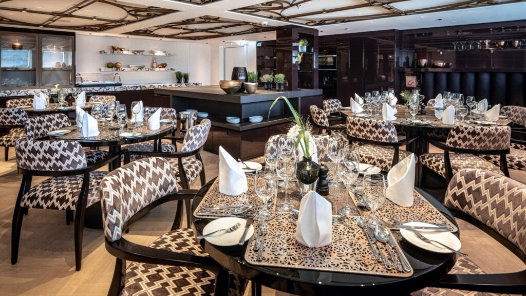 Golf Ahoy Danube River Golf Cruise AmaMagna The Chef's Table Restaurant interior