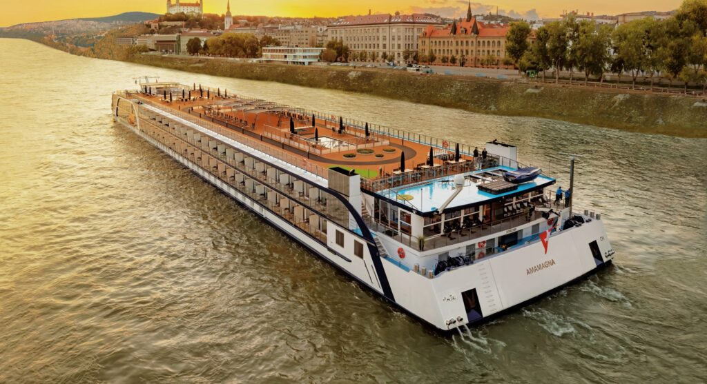 Golf Ahoy Danube River Golf Cruise amamagna riverboat sailing on the danube river