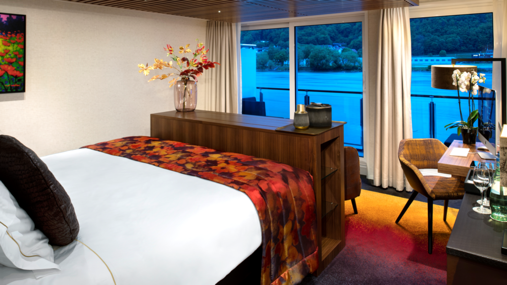 Golf Ahoy Danube River Golf Cruise AmaMagna Deluxe Stateroom interior