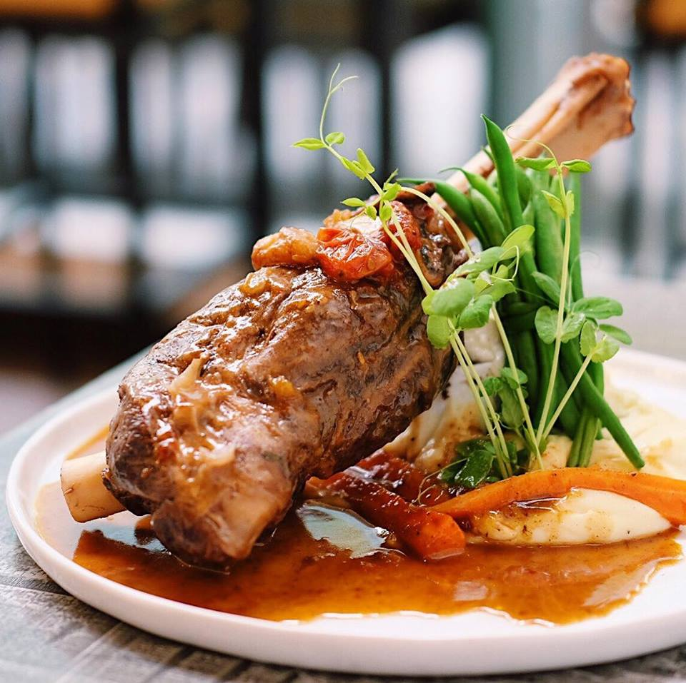 Golf Ahoy Danube River Golf Cruise AmaMagna veal osso buco meat dish on a white plate