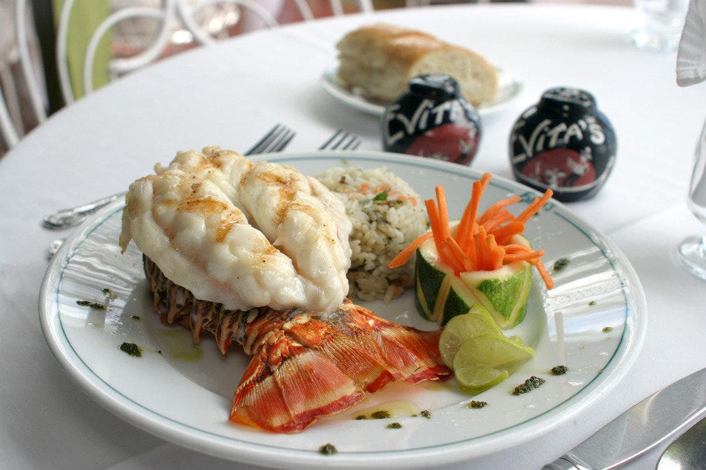 Golf Ahoy Danube River Golf Cruise AmaMagna lobster on a white plate