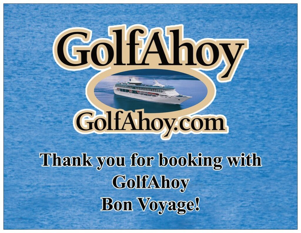 Golf Ahoy Danube River Golf Cruise AmaMagna golfahoy thank you for booking banner
