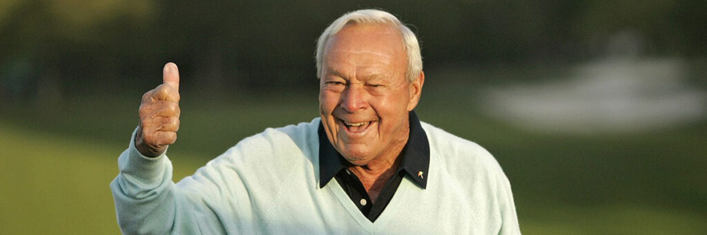 photo of arnold palmer thumbs up