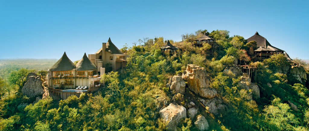 ulusaba lodge perched on hill top