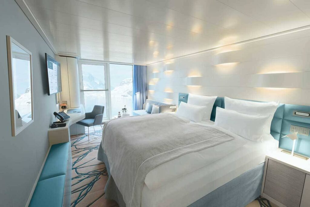 view of french balcony cabin on cruise ship