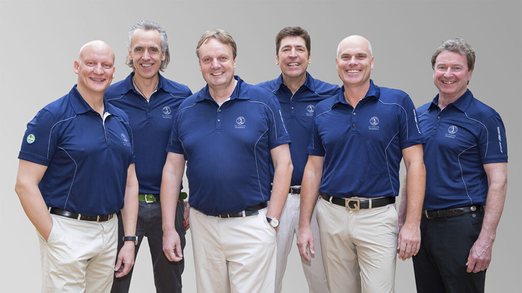 photo line up of onboard pga golf professionals