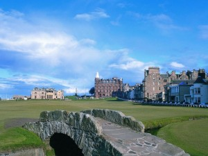 photo of st andrews golf course scotland