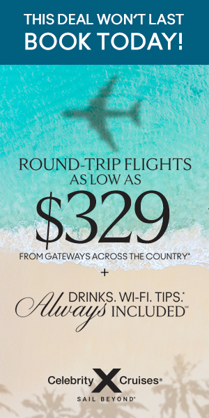 banner advertisement for low roundtrip airfate to st. maarten caribbean
