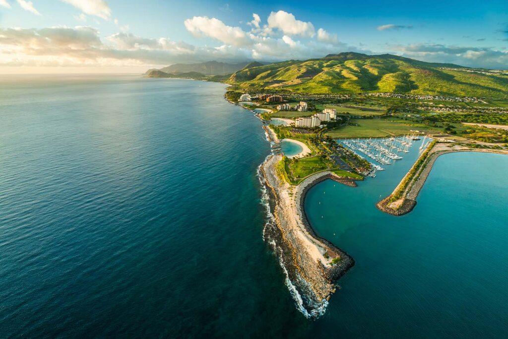 GolfAhoy Hawaii Golf Cruises photo overhead view ko olina hawaii.