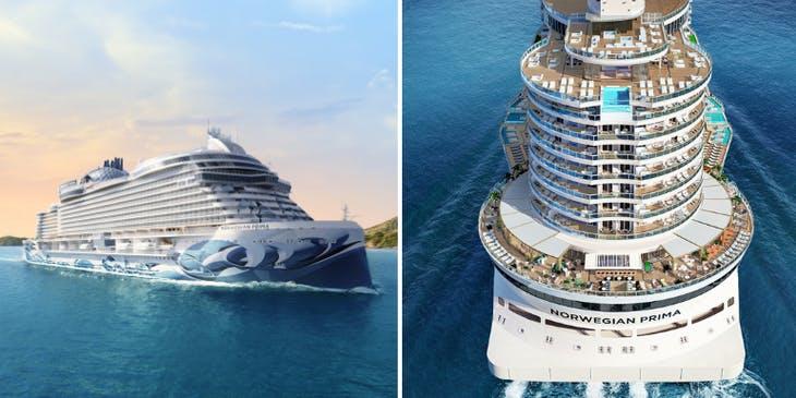 Caribbean GOLF Cruise PRIMA photos of new norwegian cruise line primo ship and aft decks