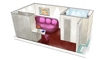 Image of MSC Singles Studio Cabin